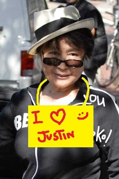 Yoko at Justin Bieber Concert.
