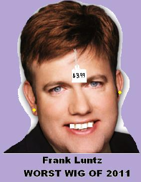 Frank Luntz Wins Worst Toupee, Hairpiece,