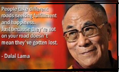 """Dalai Lama """"People take different roads…"""" Facebook Quote is a HOAX"""